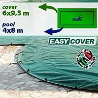 Telo di copertura invernale piscina 4 x 8 - completo di borchie ed elastico