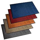 ETM Felpudo de Entrada Serie Premium | fortement Absorbente + Lavable | Varios tamaños y Colores a Elegir, Azul, 90 x 120 cm