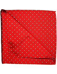 Red with White Spots Pocket Square par Tyler & Tyler