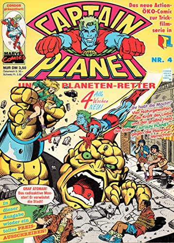 *Verlagsvergriffen* CAPTAIN PLANET und die Planeten-Retter Comic Magazin # 4: Graf Atomar schlägt zu!