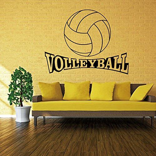 GaoXiao_ volleyball - sport - kunst - aufkleber 72cm 42 *