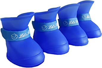 Pawzone Dog's Gummy Shoes, XXL (Royal Blue, MPZAJFHF-1)
