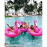 LeEr gigante inflable Pink Flamingo piscina flotante 47inch 120cm Ride-On anillo de natación inflable flotante piscina juguete huge Floatie balsa
