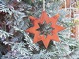 Edelrost Stern, Roststerne für Ihre Weihnachtsdeko größe zum hängen