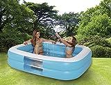 Royalbeach Jumbo-Pool | rechteckig | ohne Phthalatweichmacher | ca. 196 x 148 x 46 cm | 2 Luftkammern | 2-in-1 Ventile | mit Wasserablass-Ventil