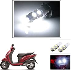 Vheelocityin 9 SMD LED Parking Bulbs for all Bikes/ Motorcycle/ ScooterFor Honda Activa i