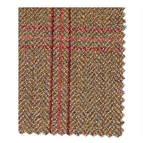 Heather Hats Iris British Wool Tote Purse NO SIZE Brown Green/Red