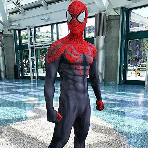 Ultimative Spider-Man Siamesische Strumpfhosen Kostümball Halloween Parade Dress Up Thema Party Film Requisiten,Red-M