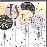 Belly Button Designs Paloma bezaubernde Glückwunschkarte zum 18. Geburtstag mit Prägung, Folie und Kristallen BB407
