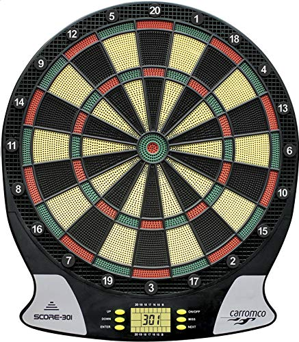 Carromco Electronic Dart Board Score 2nd Generation 92016 Unisex Erwachsene, Black, Red, Green, Yellow