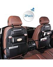 LBLA Multifarious Hanging Car Backseat Organizer PU Leather, Multi Pocket Car Storage Bag 2 Packs