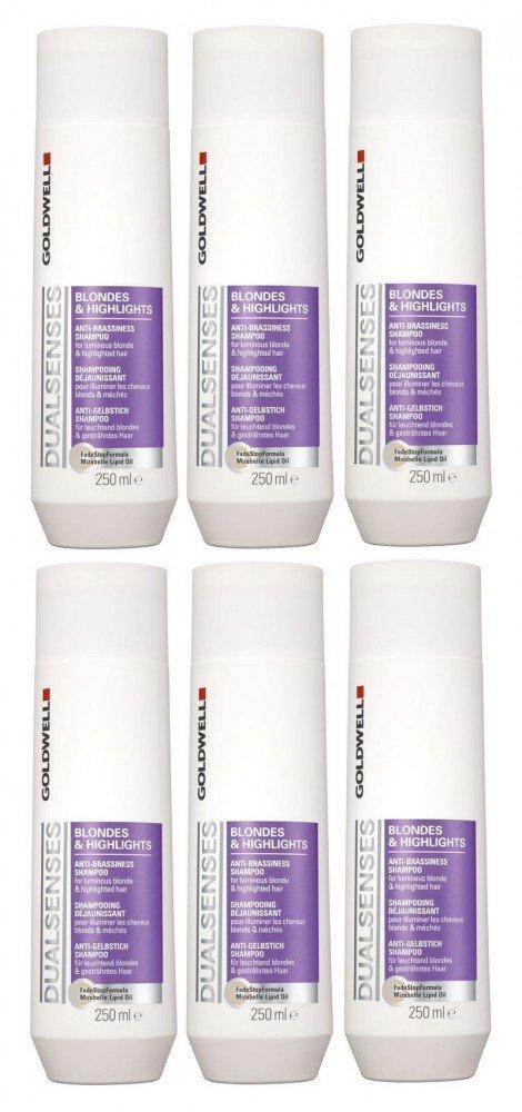 Goldwell & Highlights Biondi Shampoo punto 6�x 250�ml Dualsenses anti giallo GW