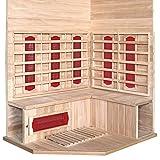 Home Deluxe – Infrarotkabine – Redsun XL – Keramikstrahler– Holz: Hemlocktanne - Maße: 155 x 120 x 190 cm – inkl. vielen Extras und komplettem Zubehör - 3