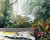 Yosot Benutzerdefinierte Dekorative Malerei 3D Tapeten Handbemalte Tropischen Regenwald Anlage Landschaftstapete-200Cmx140Cm