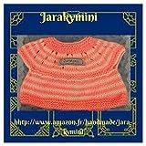 Cadeau pour bébés, Brassière bébés filles prématurée laine fait-main, layette fait main petit prix, amazon.fr/handmade/jara-kymini