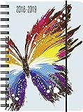 """Agenda scolaire """"Papillon"""" - 14,8x21 - Spirales - Un jour par page - 2018/2019"""