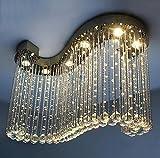 S-förmiger Kristallleuchter für Restaurant-Schlafzimmer-Wohnzimmer führte Kristalllampen-Hall-Deckenlampe