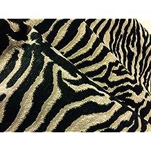 Zebra Animal Print Designer Tela Material (aspecto de lino cortina de 140cm de ancho (se vende por metros)