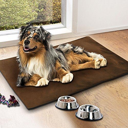 SunDeluxe Kühlmatte für Haustiere 100 x 70 cm, Kühlkissen zur Abkühlung in der Sommerhitze, Kühldecke für Hunde und Katzen, Ideal für im Auto, Zuhause Oder unterwegs