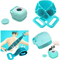 Twonzilla 2 Pcs Combo Silicone Body Back Scrubber, Double Side Bathing Brush For Skin Deep Cleaning Massage, Dead Skin…