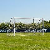 FORZA Alu60 Aluminium Fußballtor mit Netz (1,8m x 1,2m >>> 7,3m x 2,4m) [Net World Sports] (2,4m x 1,2m)