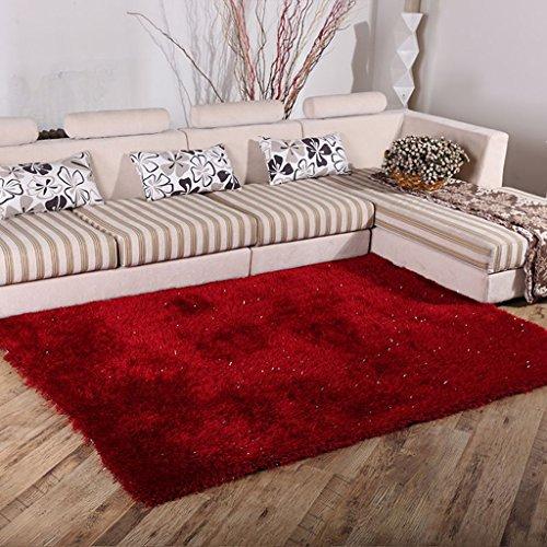 Tapis de salon Chambre à coucher de tapis de table de café de tapis de soie extensible de chiffrage de salon de tapis 6 Cm (taille : 140 * 200cm)