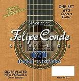 Felipe Conde Strings 670 CLASSIC Guitar Nylon, Hard Tension