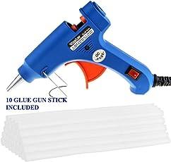 Induspro Hot Glue Gun + 10 Pc Hot Glue Stick