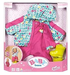 Zapf Creation 918302 - BABY Born Set de vêtements anti-pluie