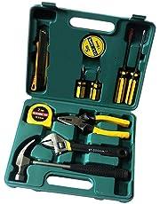 Chandi Mart LECHG LC8012 Portable Metal Car Fix Tools Kit (Big Size ELT-266894, Yellow) -12 Pieces