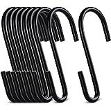 ilauke 20 Pack S vormige haken Heavy Duty S haken opknoping Hanger haken voor keuken slaapkamer en kantoor (zwart)