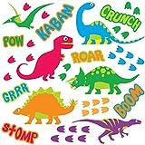 GET STICKING DECOR® Dinosauro Decalcomanie/ Sticker Da Muro/ Adesivo Da Parete Collezione, FunckyISkDino Dino.6, Lucido Removibile Vinile, Multi Color. (Medium)