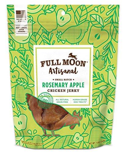 Full Moon Artisanal Rosemary Apple Chicken Jerky All Natural Human Grade Dog Treats 12 oz  available at amazon for Rs.2865