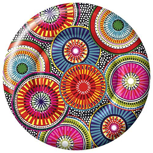 Ideal Home Serie 8-Count Boston International Nancy grün Papier Speisetellern, 25,4 cm be-spoked (Und Pappteller Fallen Servietten)