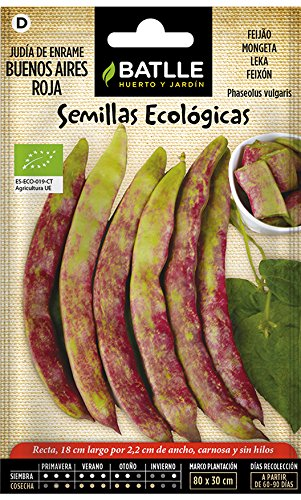 Semillas Ecológicas Leguminosas - Judía Buenos Aires Roja - ECO - Batlle