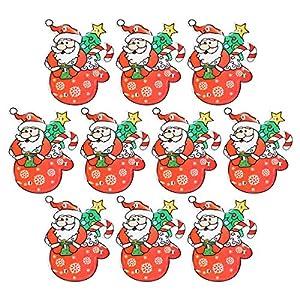 Amosfun Weihnachtsmann Brosche LED glänzend Leuchtend Leuchtend Badge Kinder 10 Stück