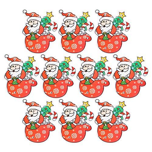 Amosfun Weihnachten led brosche pins weihnachtsmann leuchten blinkende Abzeichen Clips Geburtstagsfeier bevorzugt Geschenke für Kinder Party kostüm zubehör Requisiten 10 stücke