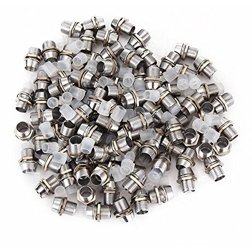 DN Un pacchetto di 5 mm in metallo cromato LED placcato Bezels pannello della clip del supporto del supporto su 100pcs