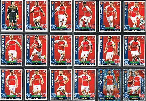 Topps Champions League Match Attax 15 16 Arsenal Team Base Set 2015 2016 Including Star Player   Duo Trading Cards