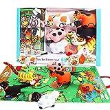 SIKAINI Soffbuch Baby 3D Baby Bücher Spielzeug 1-3 Jahre Baby lernspielzeug für Junge Mädchen ( Bauernhof)