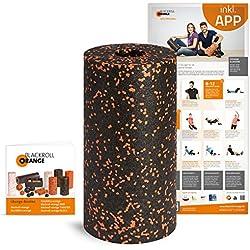 Blackroll Orange (Das Original) Faszienrolle inkl. Übungsposter und Booklet, die Massagerolle für die Faszien, auch Foam Roller, Gymnastikrolle, zur Selbstmassage und Behandlung des Bindegewebes