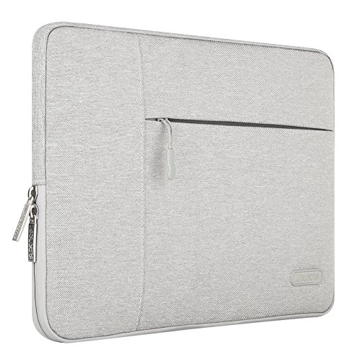 MOSISO Housse Sacoche Pochette pour 13-13,3 Pouces MacBook Pro, MacBook Air, Notebook, Ordinateur Portable, Polyester Tissu Pochette Protecteur Multifonctionnel Couvrant, Gris