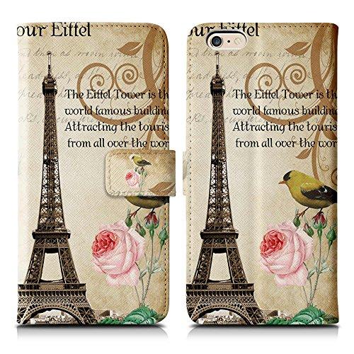 Apple iPhone 5 / 5s Handyhülle inklusive Displayfolie Keep Calm Carry ON Paris Vintage (2)