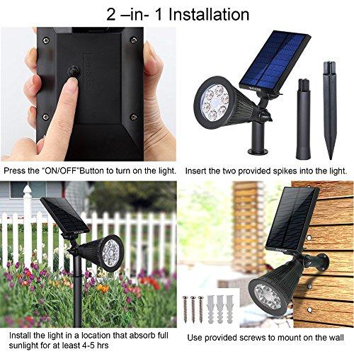 Solar-Spotlights-OutdoorUpgraded-Vandeng-Motion-Sensor-Solar-Powered-Security-6-LED-Landscape-Light-Auto-OnOff-Waterproof-Wall-Tree-Light-for-Patio-Porch-Path-Deck-Garden-Garage-Driveway-2-pack
