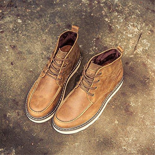 gli stivali di moda casual scarpe vintage fashion scarpe da uomo yellow