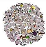 LMH-Shentu 100pcs Kreative süße selbstgemachte Katze Sticker Scrapbooking Aufkleber DIY Handwerk...