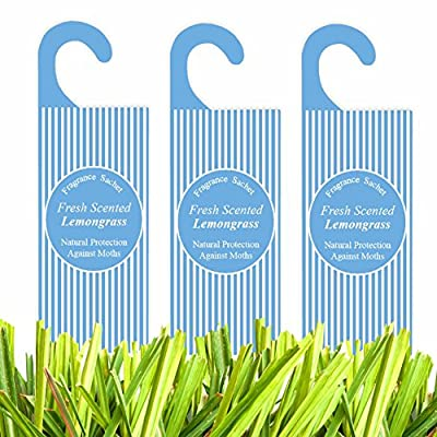 Pack of 3 Moth Repellent Hanging Fragrance Bags Sachets Scented Natural Clothing Protection - For Drawers, Cupboards, Wardrobes etc.