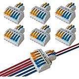 QitinDasen 6Pcs KV426 Palanca Tuerca Cable Conector, 2 en 6 fuera Bilateral 8 Puertos Compacto Conductor Conector, Rápido Cab