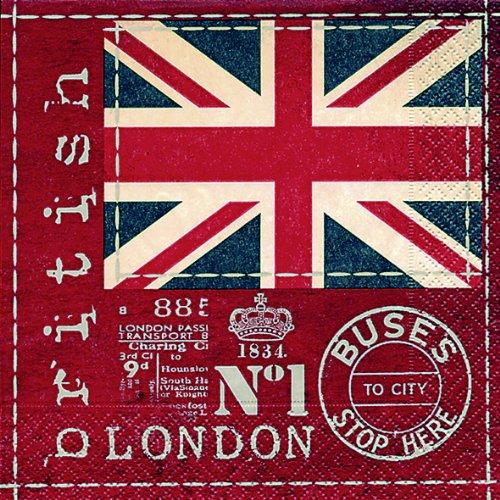 20 Servietten British Flag - Britische Flagge/Großbritannien/London 33x33cm -