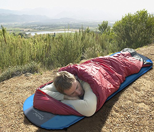 61uOv1G2t0L - iNeibo Self Inflating Sleeping Mat Camping Mat Sleeping Pad Compact Lightweight Camp Mat Inflatable Roll Up Foam Bed Tent Pads for Winter Camping Mummy Sleeping Bag